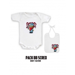 "Pack ""BaBy Scred"" Blanc logo mini"