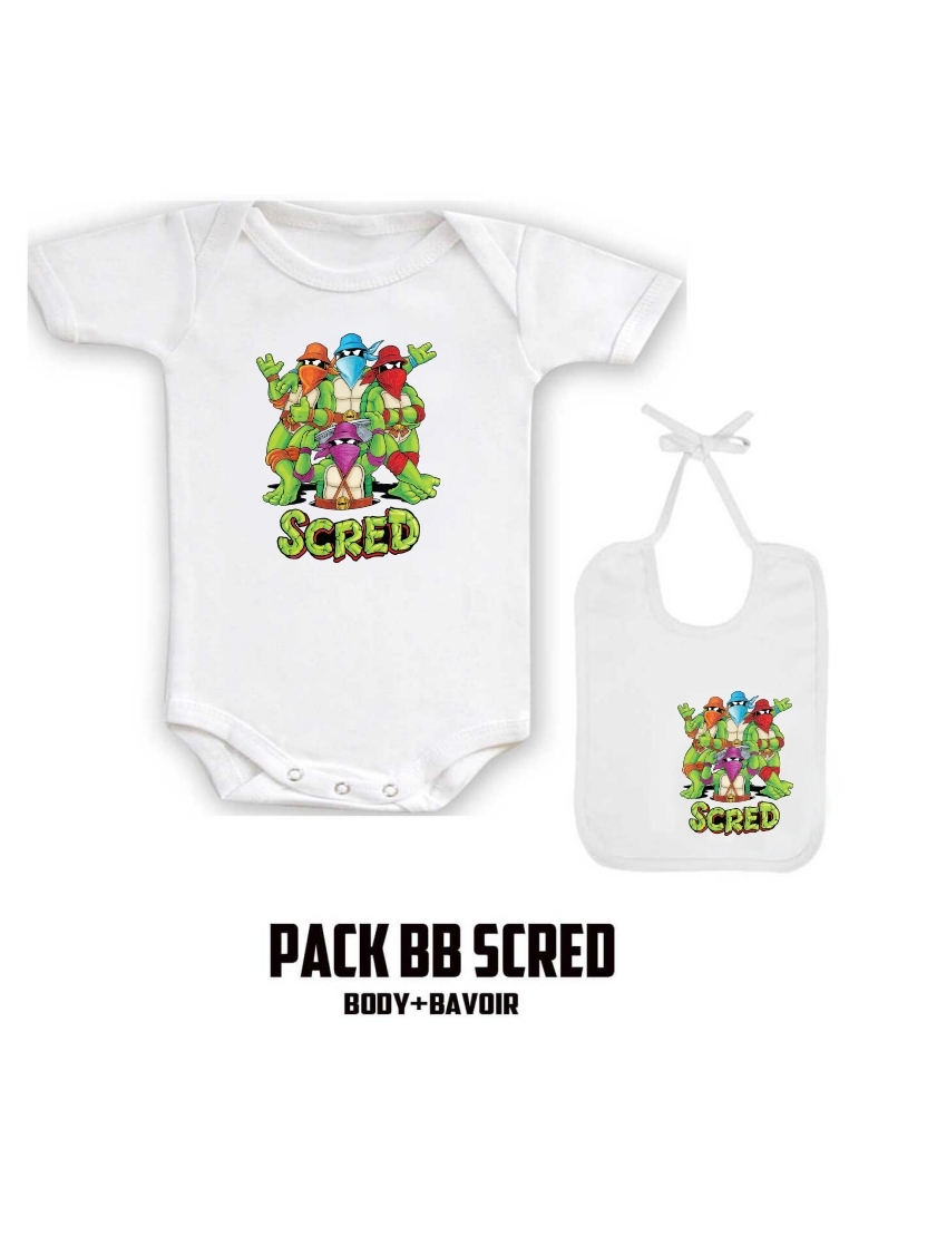 "Pack ""BaBy Scred"" Blanc turtle"