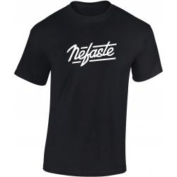 Tee-shirt Nefaste noir logo blanc