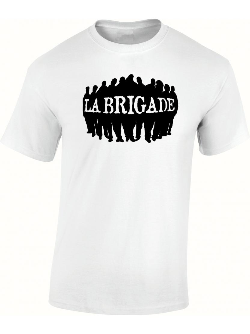 """tee-shirt blanc """" La brigade"""""""