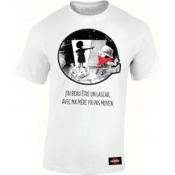 "Tshirt Collector ""Expression Diskrete"" blanc"