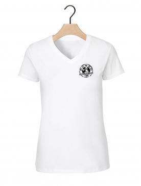 """tee-shirt femme """"classic"""" coeur blanc logo noir"""