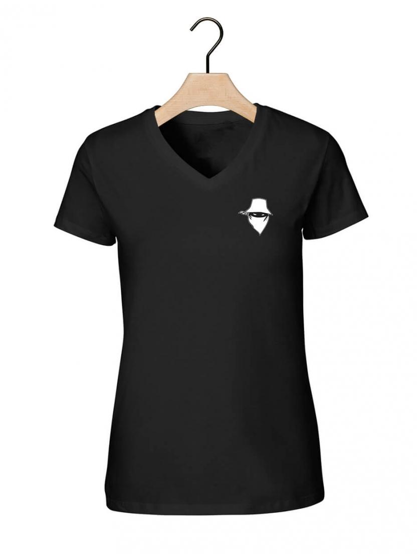 """Tee-shirt femme """" new visage """" noir"""