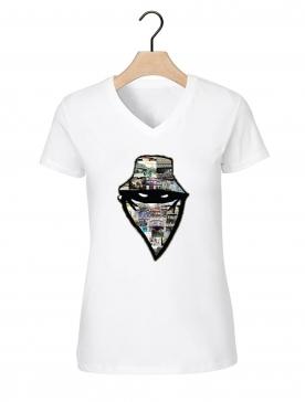 "Tee-shirt femme ""barbes story"" blanc"