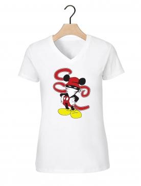 "Tee-shirt femme ""Walt Discrey"" blanc"