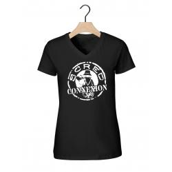 """Tee-shirt femme col V noir """"classico"""""""