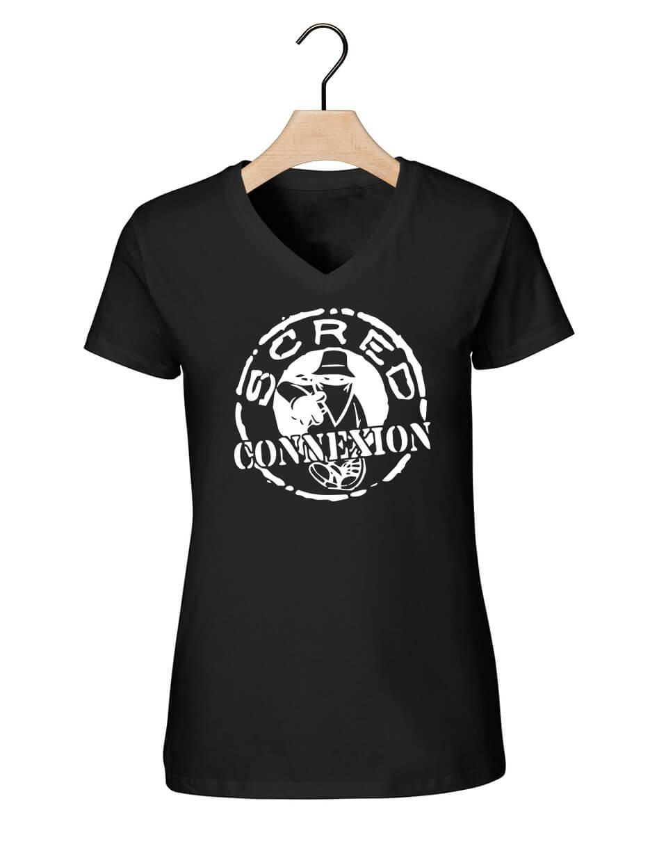 """Tee-shirt femme""""classico"""" noir et blanc"""