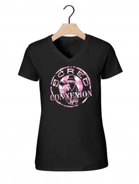 "T Shirt Femme ""Scred Tati"" Noir"