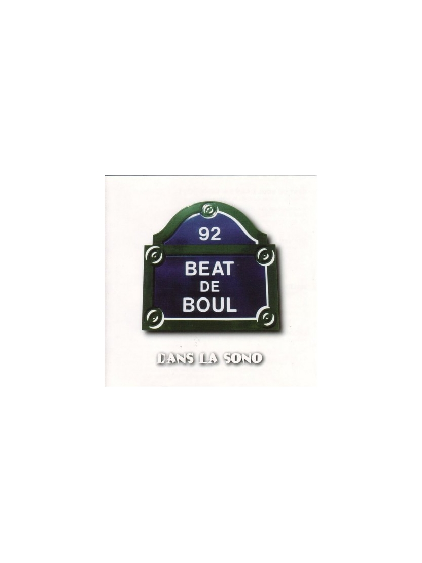 "Album Cd ""Beat de boul"" - Dans la sono"