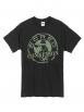 "Tee Shirt ""Classico"" Noir Logo Kaki"