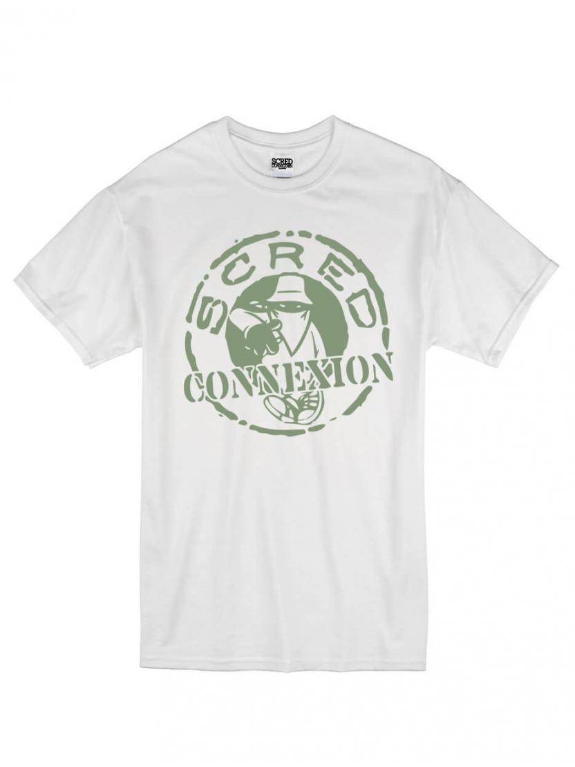"Tee Shirt ""Classico"" Blanc logo Kaki"