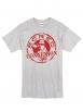 """Tee Shirt """"Classico"""" Gris Logo Bordeaux"""