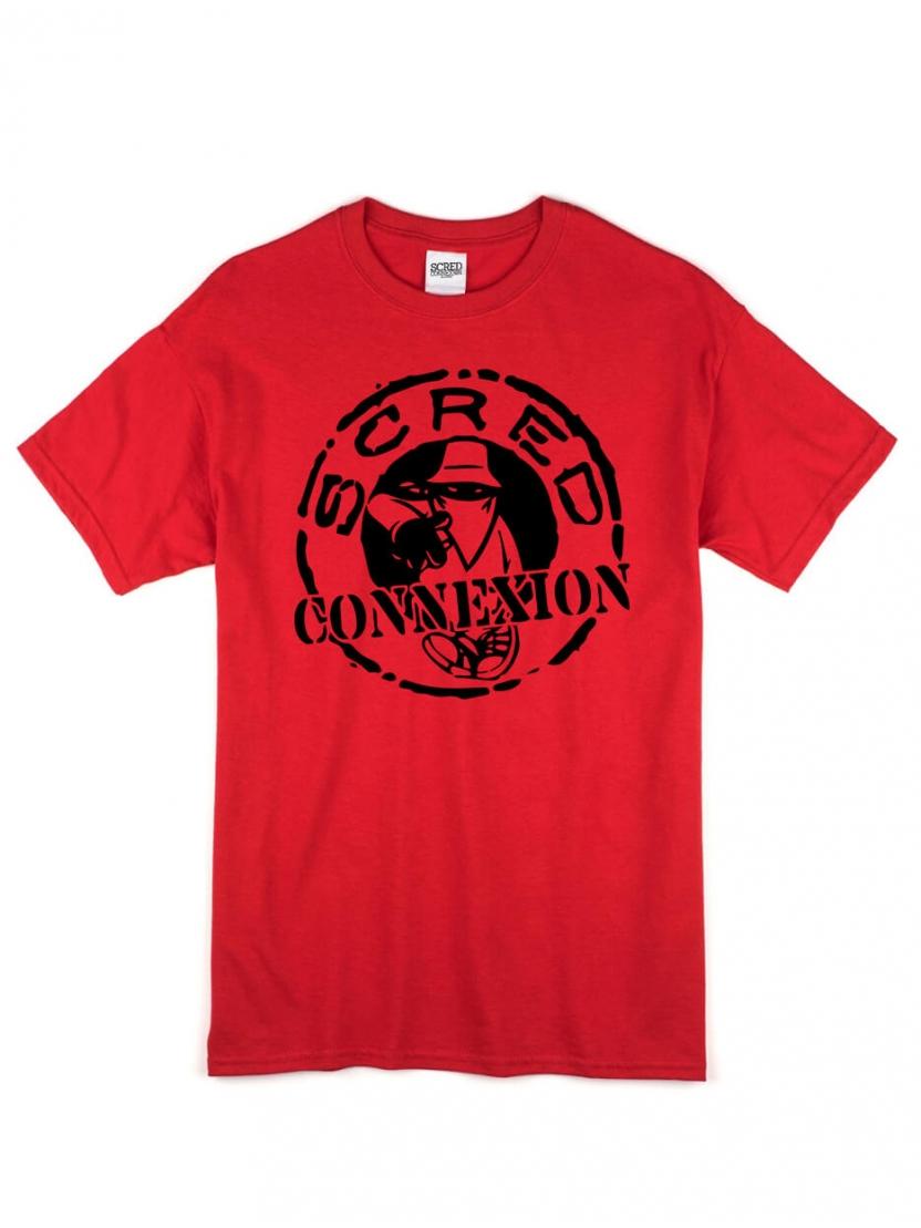 """tee shirt """"classico"""" Rouge et noir"""