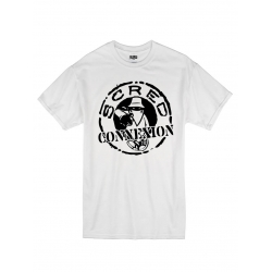"tee-shirt ""classico"" blanc logo noir"