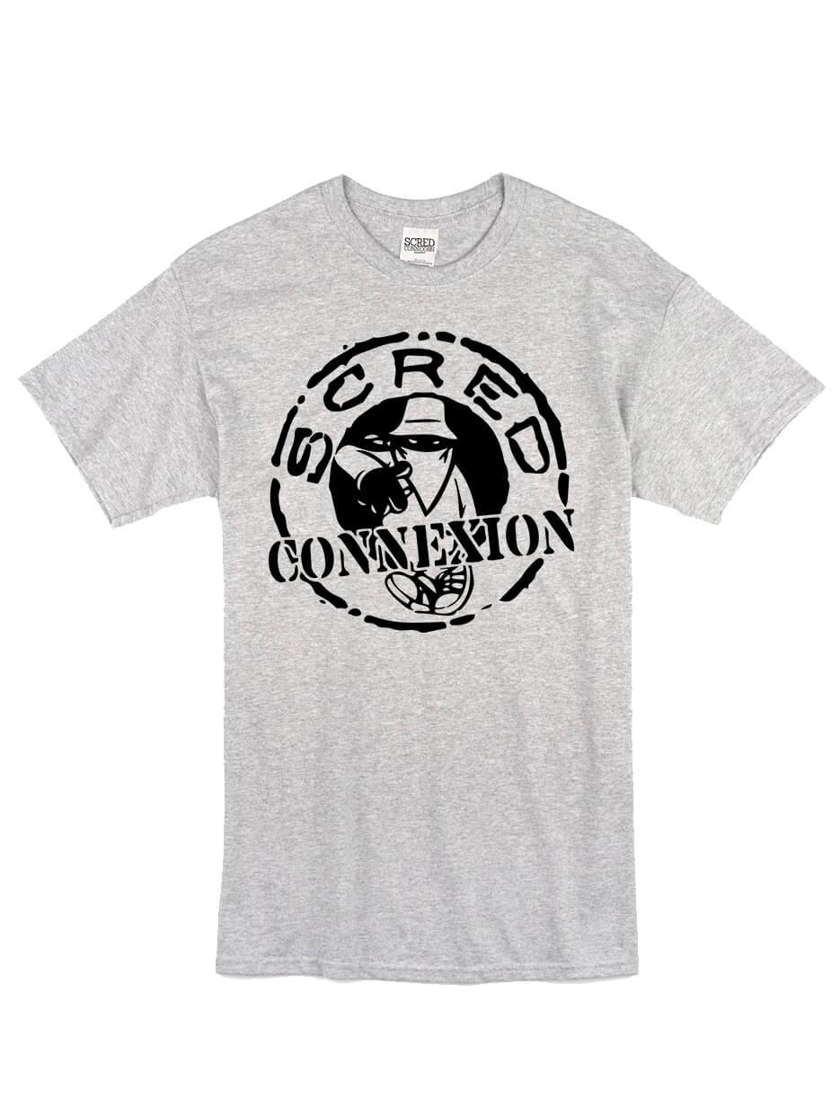 "tee-shirt ""classico"" gris logo noir"