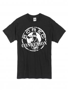"tee shirt ""classico"" noir logo blanc"