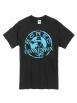 "tee shirt ""classico"" noir logo bleu"