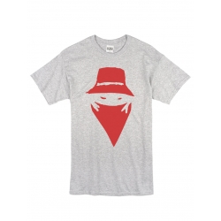 "Tee Shirt ""Visage"" Gris logo Rouge Sang"