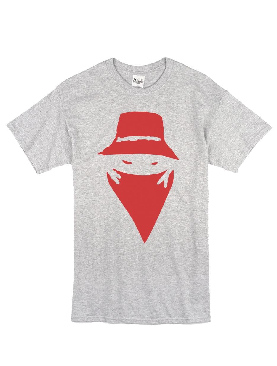 """Tee Shirt """"Visage"""" Gris logo Bordeaux"""