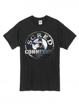 """tee-shirt """"classico"""" noir logo argenté"""