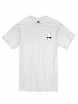 "tee-shirt ""dernier visage"" logo blanc"