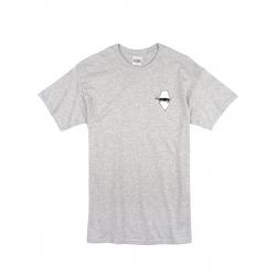 "tee-shirt ""dernier visage"" gris logo blanc"