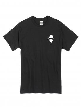 "tee-shirt ""dernier visage"" noir logo blanc"
