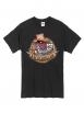 """tee-shirt """"poker carré d 'as"""" noir logo marron"""