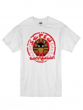 "tee-shirt ""Pharaon scred"" blanc"