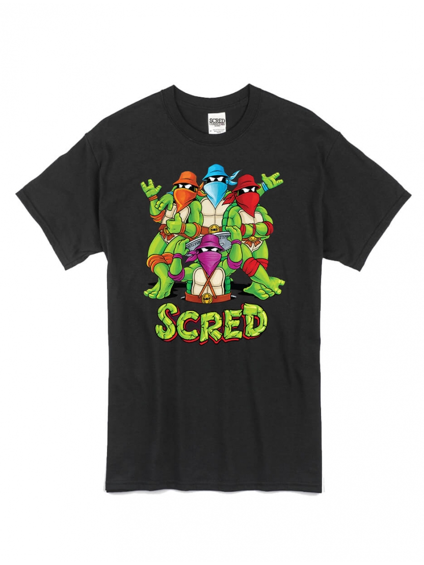 "T-Shirt ""Scred Turtles"" Noir"