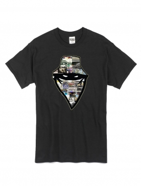 """tee-shirt """"barbes story"""" noir"""