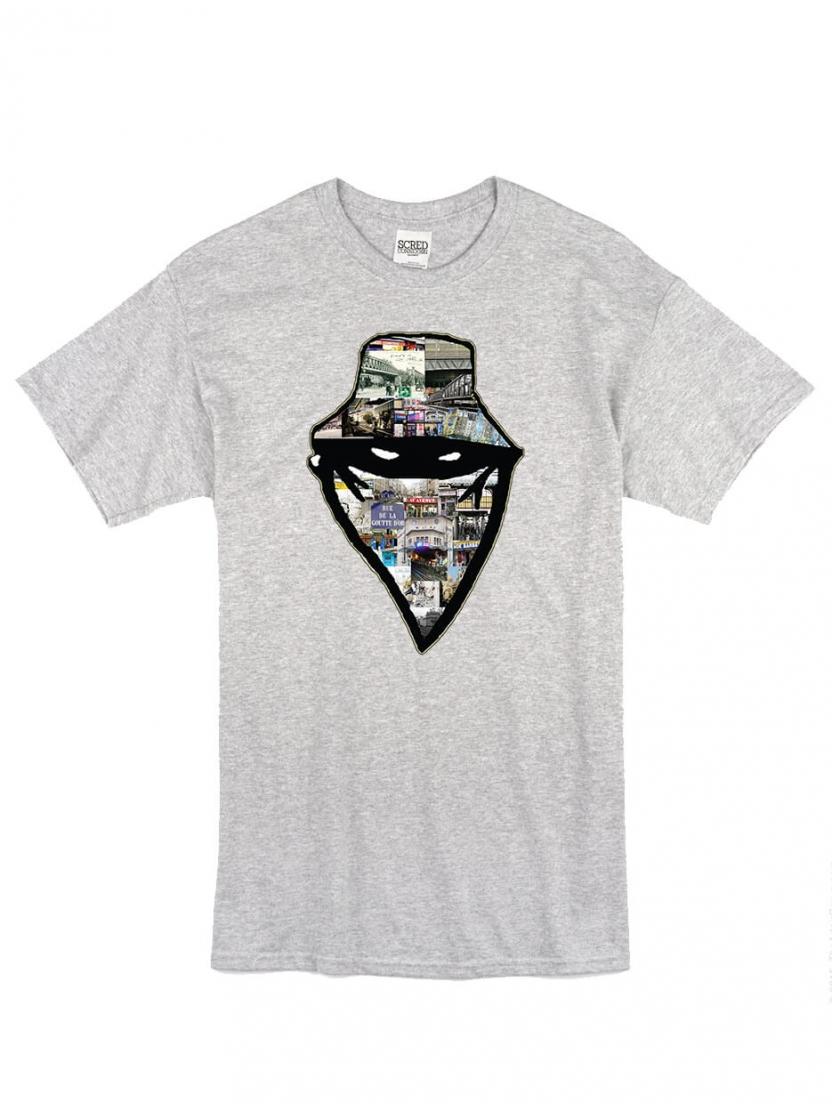"""tee-shirt """"barbes story"""" gris"""