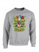 """Sweat Col rond """"Scred Turtles"""" Gris"""