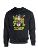 "Sweat Col rond ""Scred Turtles"" Noir"