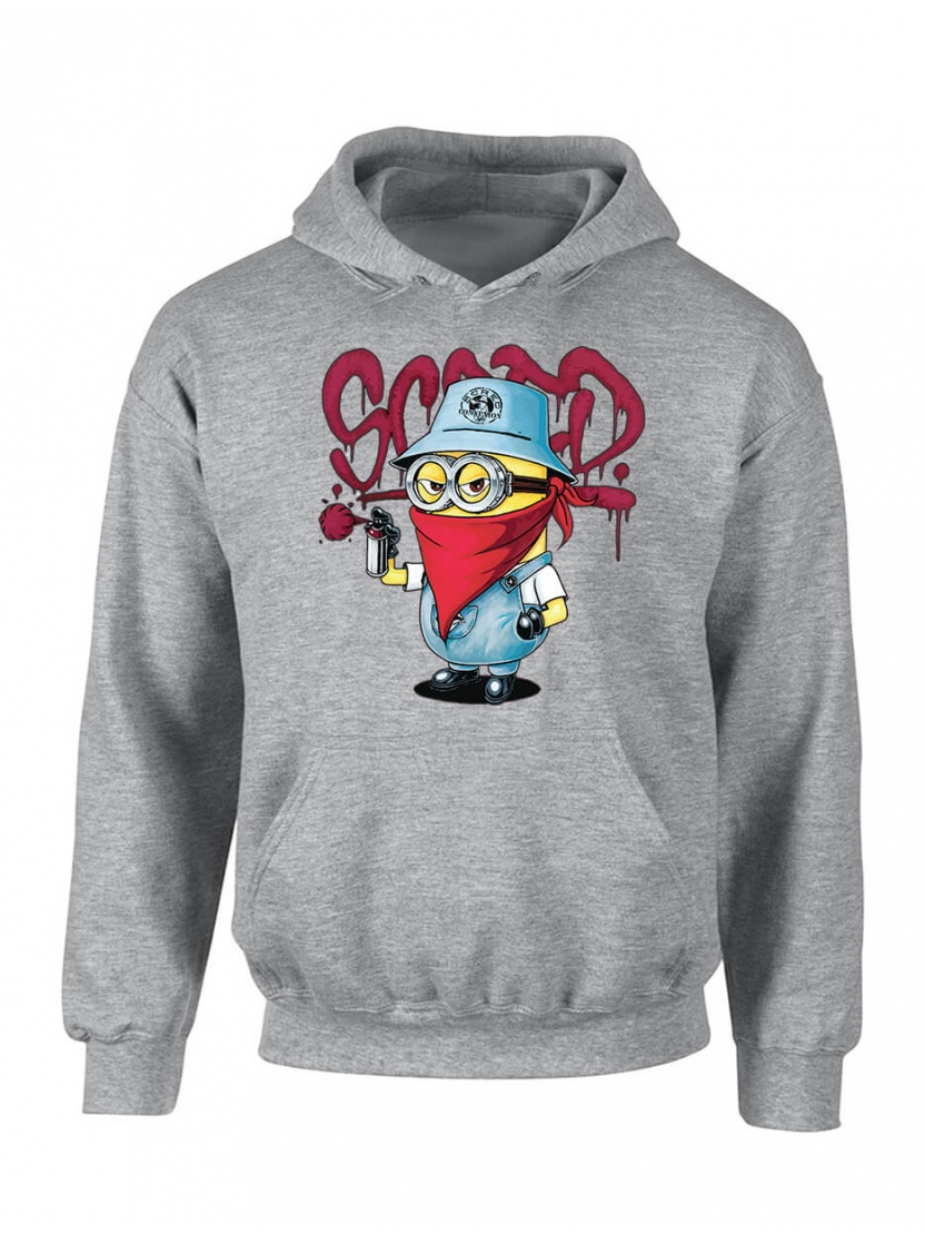 "Sweat Capuche ""Mini Scred"" Gris"