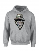 "sweat capuche ""Barbes Story"" Gris"