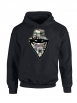"sweat capuche ""Barbes Story"" noir"