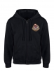"sweat zip capuche ""Poker"" noir"
