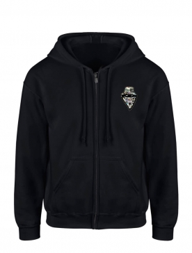 "sweat zip capuche ""story"" noir"