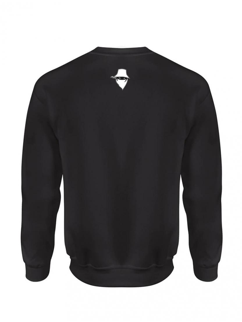 """sweat col rond """"Le Dernier Visage """" gris logo"""