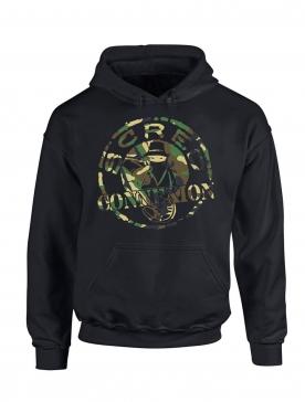 sweat capuche noir Classic militaire verts
