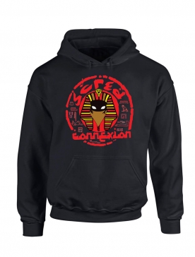 sweat capuche noir pharaon