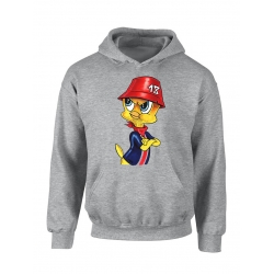 "Sweat Capuche ""Titi parisien"" Gris"