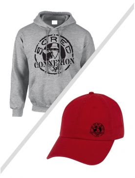 Pack 02 : Sweat Capuche Gris Classico + Casquette Bordeaux