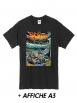 """T-Shirt """"Scred Festival 3018"""" Noir + Poster A3"""