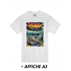 "T-Shirt ""Scred Festival 3018"" Blanc + Affiche A3"