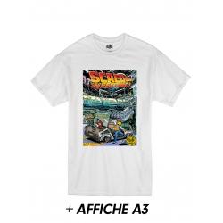 "T-Shirt ""Scred Festival 3018"" Blanc + Affiche A3"
