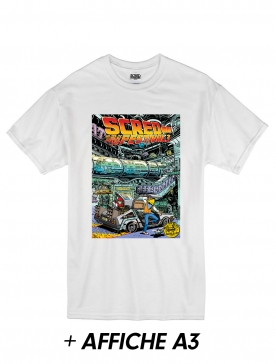 "T-Shirt ""Scred Festival 3018"" Blanc + Poster A3"