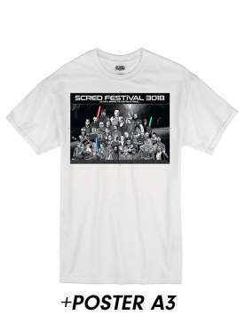 """T-Shirt """"Scred Festival 3018"""" Blanc + Poster A3"""