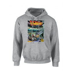 "Sweat Capuche Affiche ""Scred Festival 3018"" Gris"
